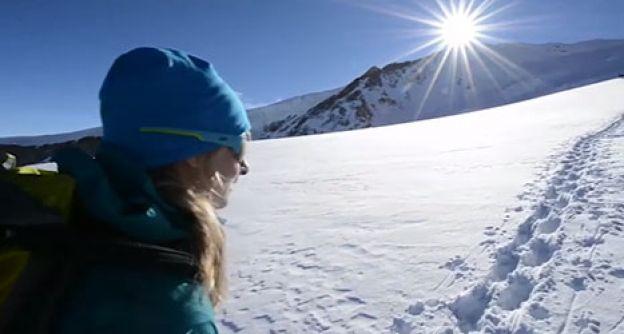 Anne auf dem Weg zum Gipfel