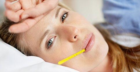 Fieber verursacht glasige Augen