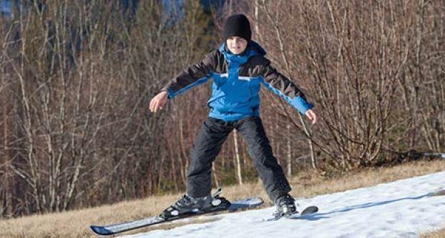 Skifahren ohne Schnee