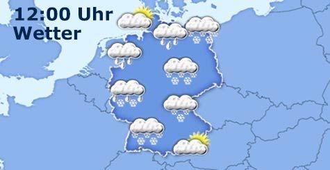Wetter in Deutschland um 12 Uhr