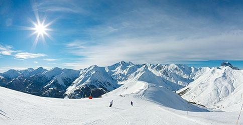 Berge, Ski, Sonne