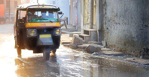 Monsun Überschwemmung Asien