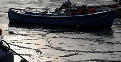 Eis auf der Ostee lichtet sich