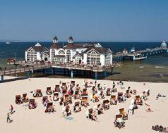 Rügen, Sellin, Sonne, Sommer, Strand, Meer, Seebrücke