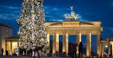 Weihnachtsbaum am Brandenburger Tor