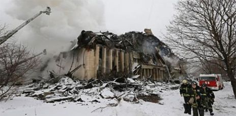 Feuer wütet in berühmter Moskauer Bibliothek