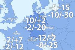 Temperaturen um 12