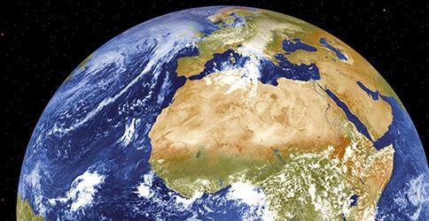 Erdkugel aus dem Weltall
