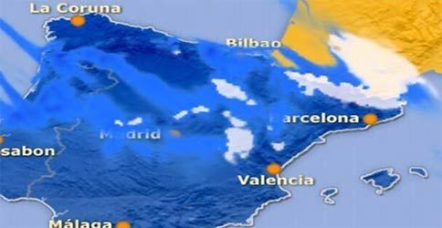 Niederschläge in Spanien