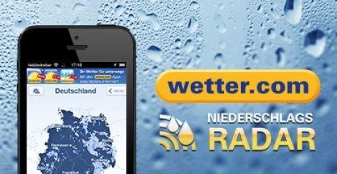 Niederschlagsradar-App von wetter.com