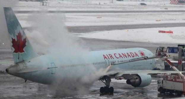 Flugzeug Enteisung