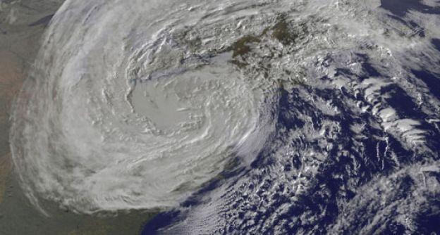 Sandy über dem Nordosten der USA