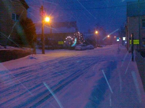 Schnee in Schönborn: Jaqueline Gerlach