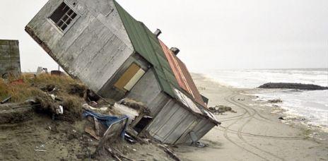 Dörfer in Alaska schmelzen