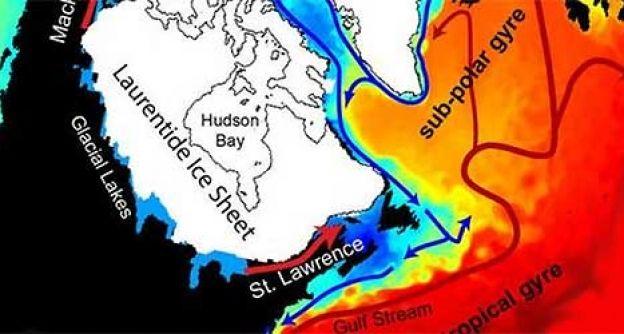 Arktische Schmelzwasserflut loeste letzte Kaeltephase der Eiszeit aus - Suesswasser stroemte weiter noerdlich ins Meer als bisher angenommen. (dapd)