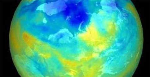 Aufnahme des Ozonlochs von der Nasa am 15.9.2012