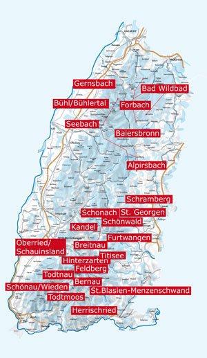 Karte vom Schwarzwald